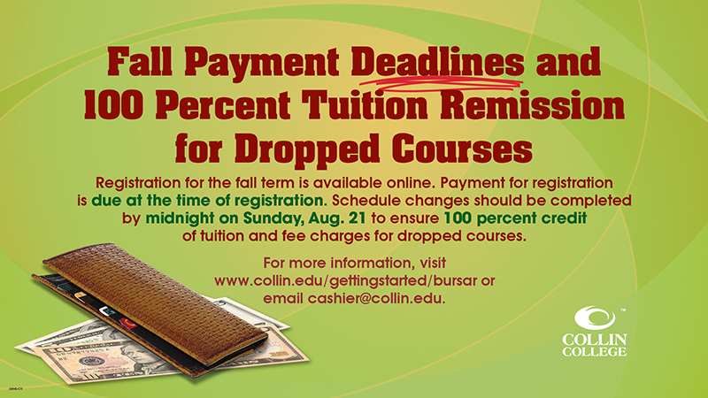 Fall Payment Deadlines