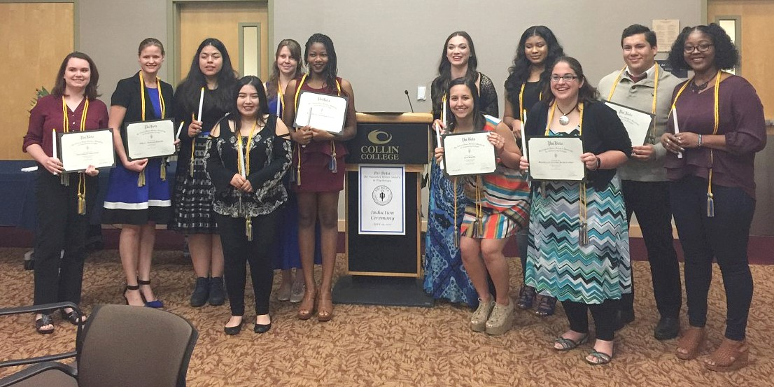 Twenty-one students were inducted into Psi Beta in late April.